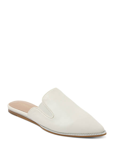 BCBGeneration Mule Leather Flat Sandals