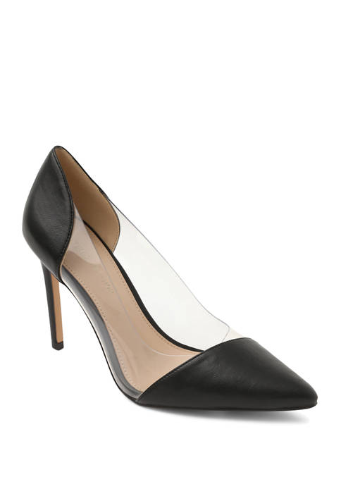 BCBGeneration Pointy Toe Pumps with Clear Vinyl Panels
