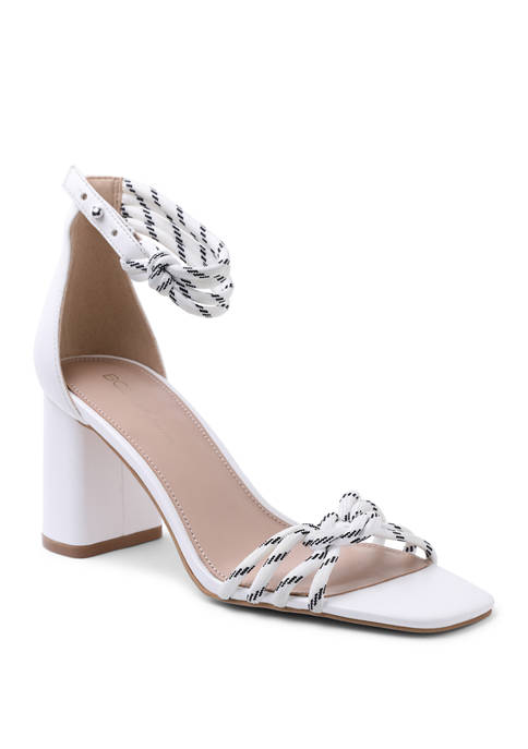 BCBGeneration Block Heel Sandals with Ankle Strap