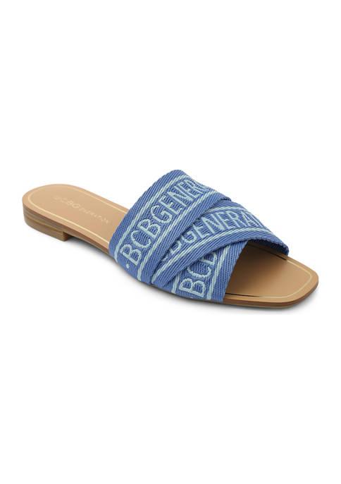 BCBGeneration Kana Flat Slide Sandals