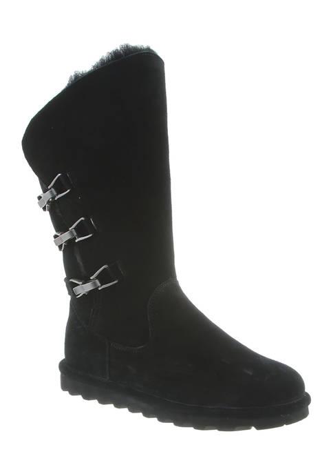 Bearpaw Jenna Suede Buckle Boots