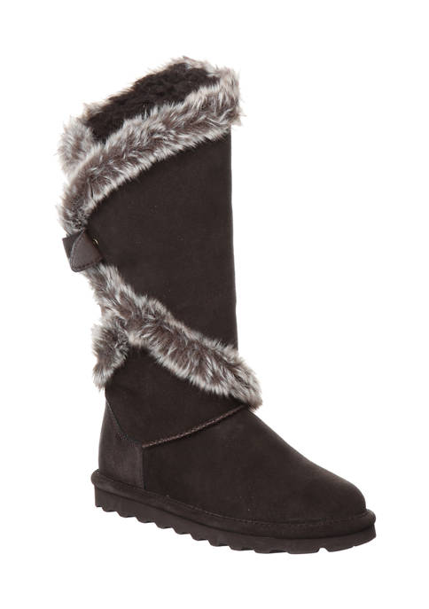 Phylly Tie Back Seude Boots