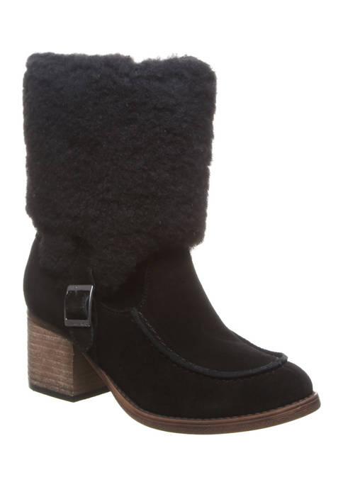 Bearpaw Kiera Suede Strap Boots