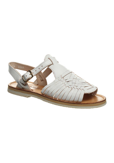 Bearpaw Gloria Leather Huaraches Ankle Strap Sandals