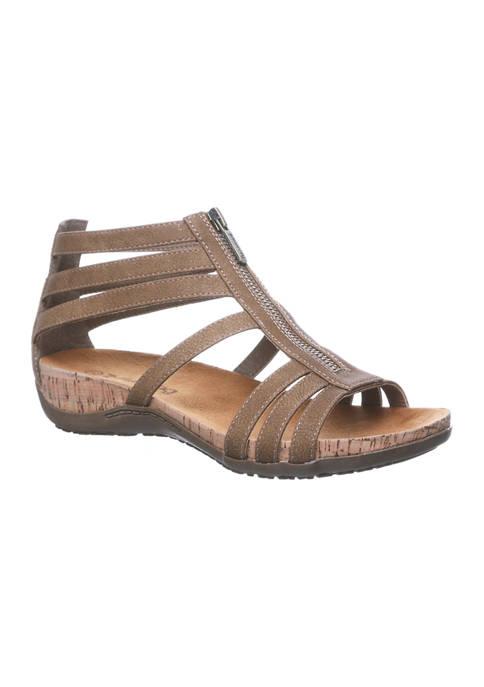 Bearpaw Layla II Cork Footbed Zipper Sandals