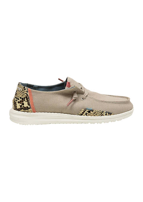 Wendy Snake Linen Loafers