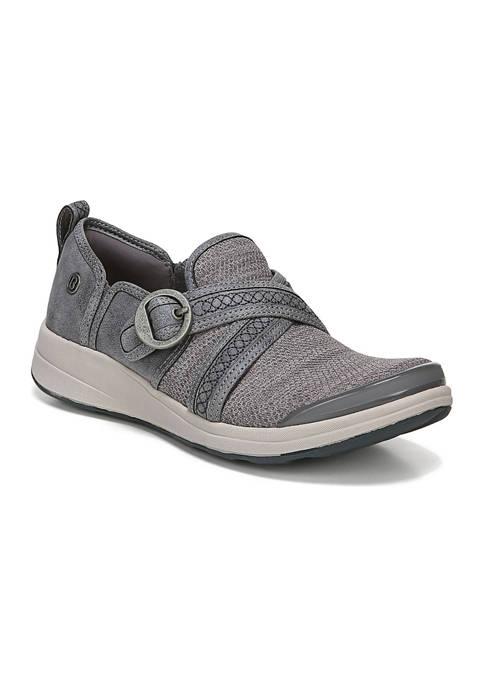 Bzees Indigo Slip-On Gray Loafers