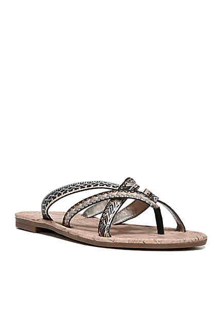 Good Choice Ari Cross Strap Cushioned Flat Slide Sandals 2PWqvvjQzE