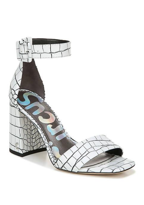 Elizabeth Block Heel Sandals