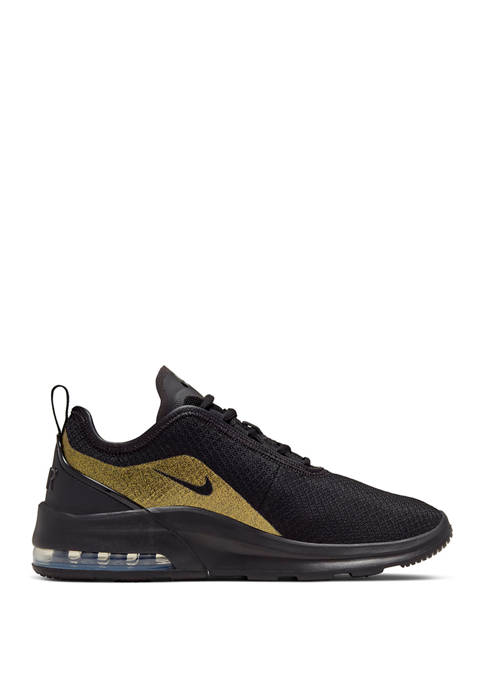 Black and Metallic Gold Air Max Motion 2 Sneakers