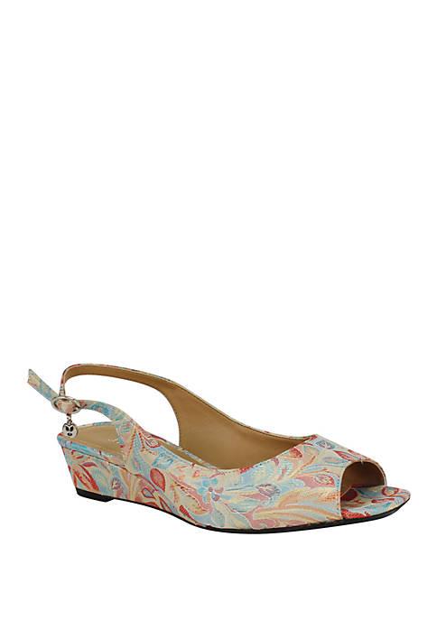 J Reneé Alivia Mid Heel Wedge Sandals