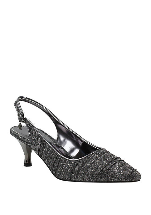 J Reneé Battista Low Heel Sling Back Pumps