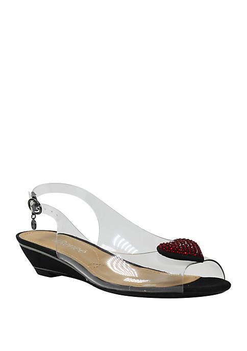 Bevelyn Slingback Wedge Sandals