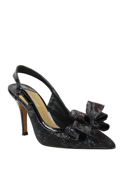 J Reneé Charise Bow Sling Pumps