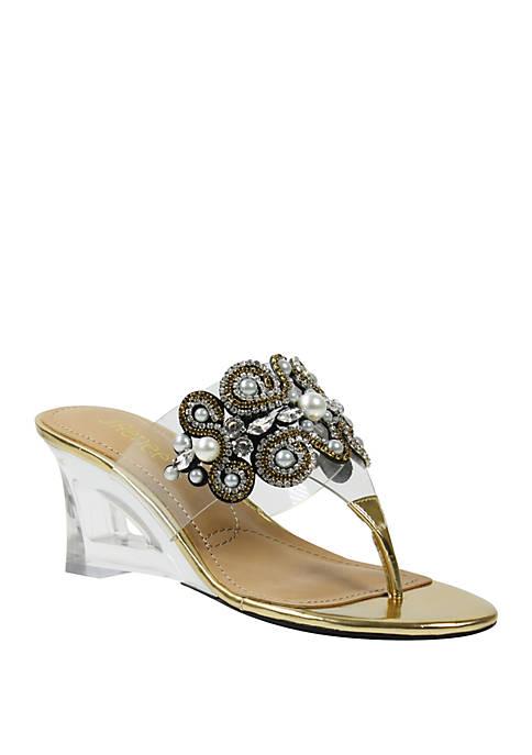 Darshana Mid Wedge Sandals