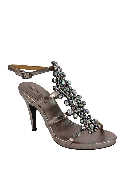 J Reneé Evadine T-Strap Ornament Heels