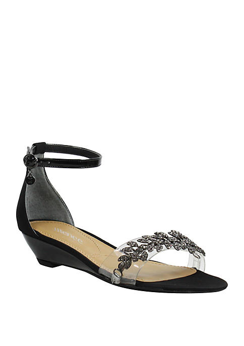 Eviana Low Wedge Sandals