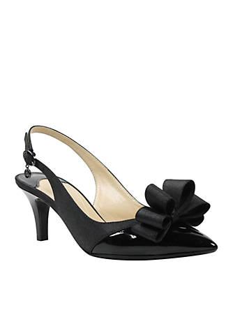 J Reneé Gabino Bow Sling Heels pWzuY3u