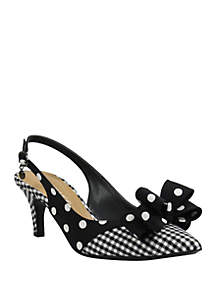 5304632e82fa ... J Reneé Gabino Bow Slingback Heels
