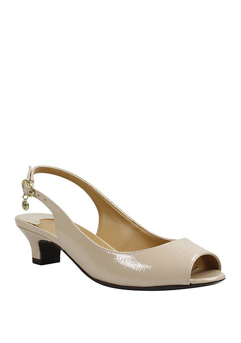 Jenvey Open Toe Slingback Sandals