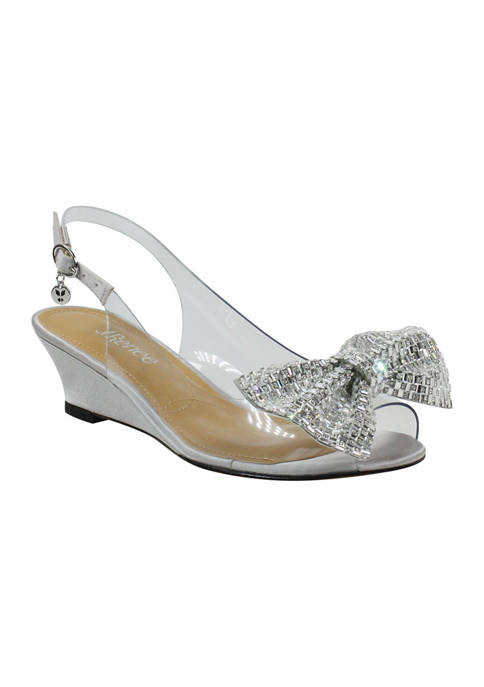 J Reneé Leana Bow Dress Wedge Heels