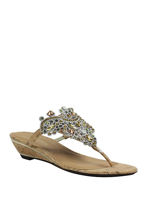 Marisella Low Wedge Sandals