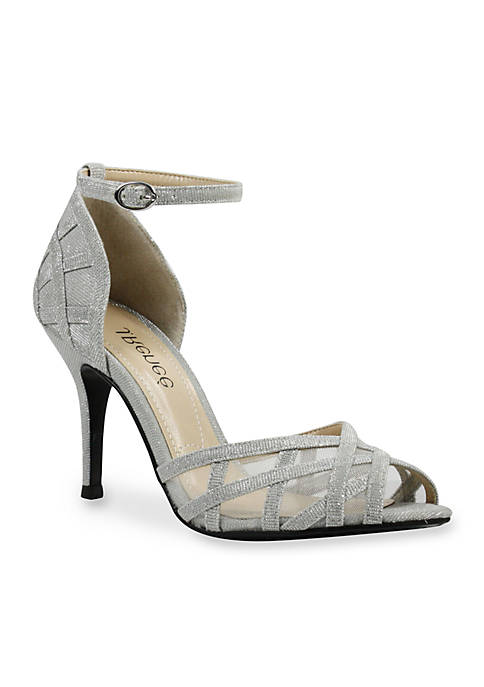 J Reneé MATARO Glitter Fabric And Mesh Ankle