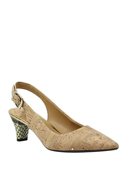 Mayetta Mid Heel Slingback Heels