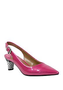 J Reneé Mayetta Mid Heel Slingback Heels