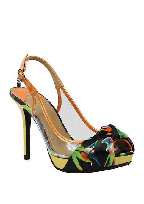 J Reneé Ophira Open Toe Slingback Heels