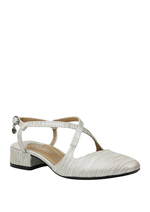 J Reneé Petara Low Block Heel Sandals