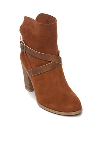 New Directions® Jorie Unlined Strap Booties gHbrKWmY4
