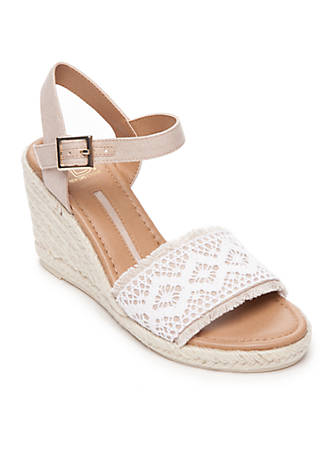 New Directions® Cyra Lace Espadrilles s39Rx