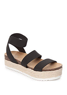New Directions® Rimi Ankle Strap Platform Sandals