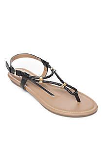 Tullia Woven Thong Sandals