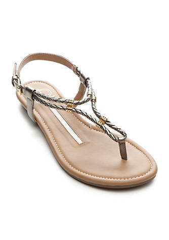 New Directions® Tullia Woven Thong Sandals pKvHCat
