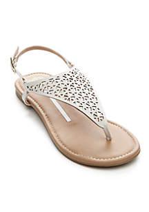 Cassia Laser Cut Sandals