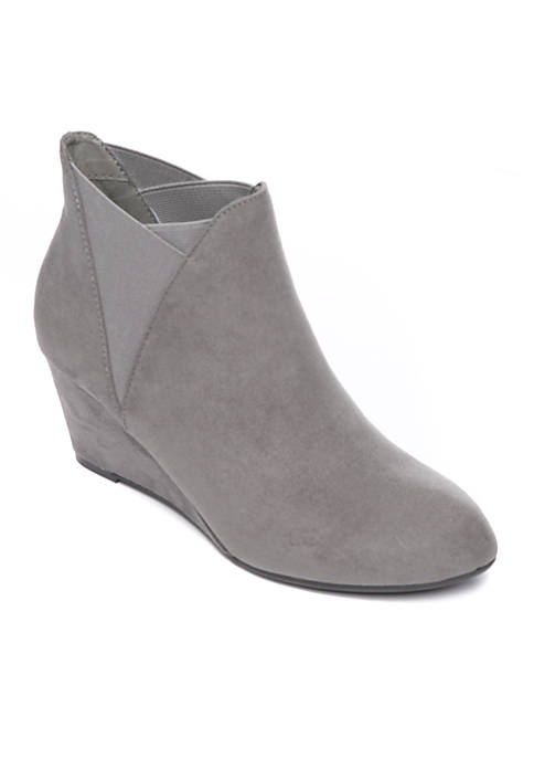 New Directions® Tarby Gore Wedge Booties