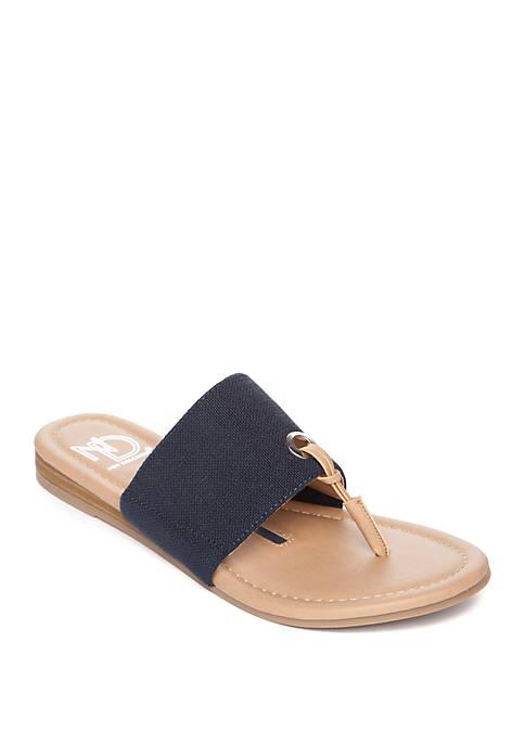 Yasmini Stretch Thong Sandals