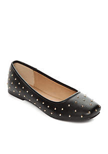 New Directions® Breck Square Toe Stud Flat