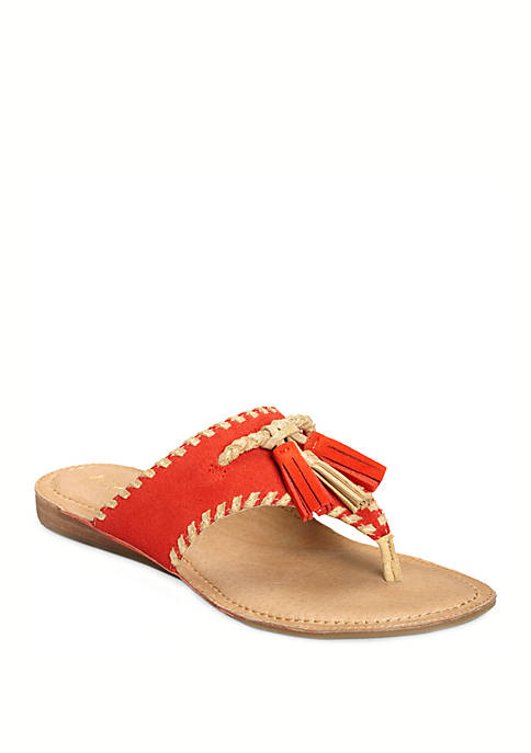 AEROSOLES® Book of Style Tassle Thong Sandals