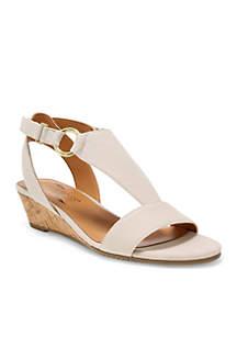 Creme Brulee Wedge Sandal