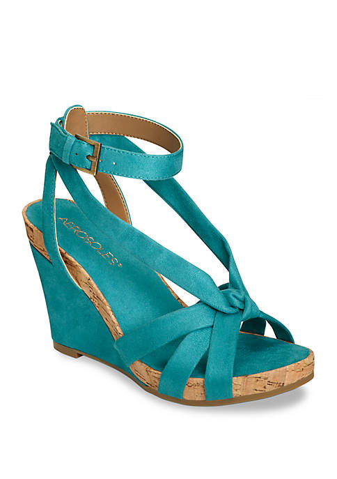 AEROSOLES® Fashion Plush Strappy Wedge Sandals