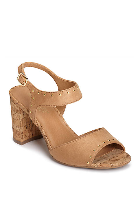 AEROSOLES® High Point Cork Covered Dress Sandals