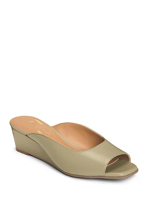 39eabb01903 AEROSOLES® Magnet Tailored Peep Toe Wedge Sandals