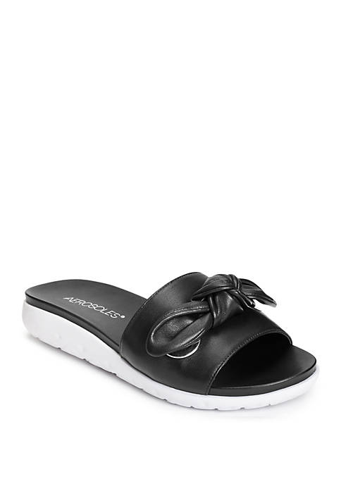 AEROSOLES® Manicure Bow Slide Sandals