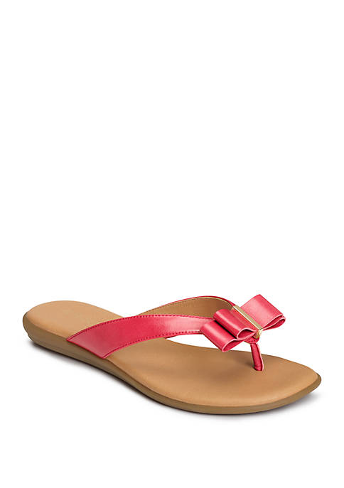 AEROSOLES® Mirachle Bow Thong Sandals