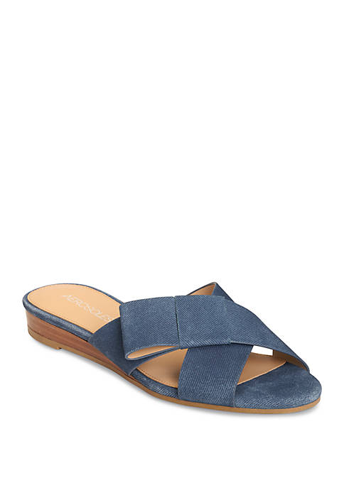 AEROSOLES® Orbit Criss Cross Slip On Sandals