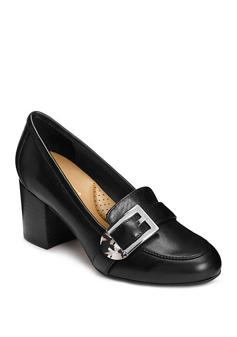 AEROSOLES® Pattern Work Stacked Heel Shoes