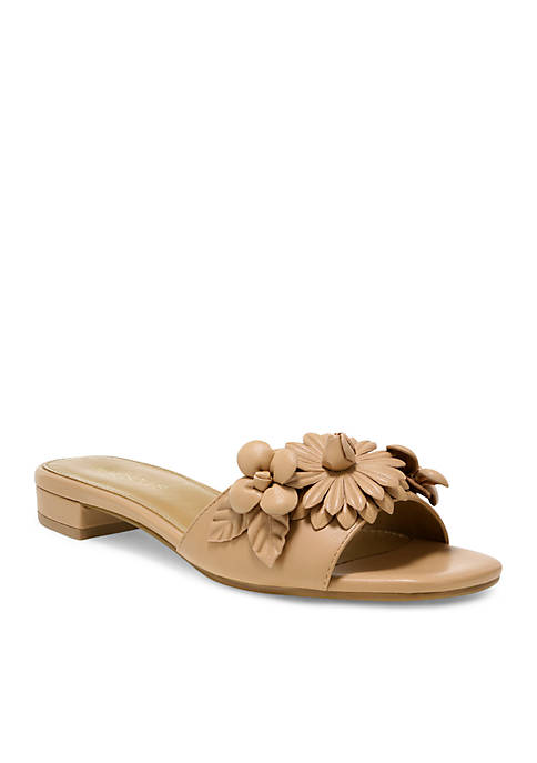 AEROSOLES® Pin Down Flower Slide Sandal